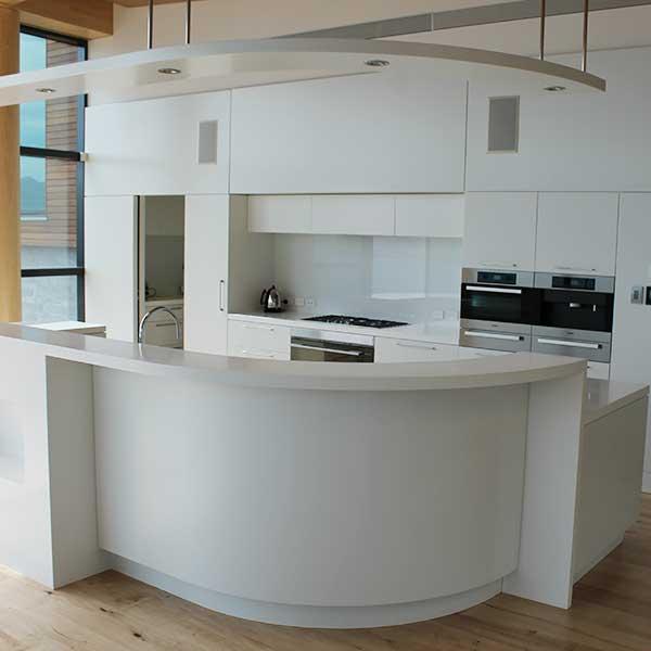 Curved Bespoke Kitchen